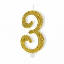 Χρυσό κεράκι αριθμός 3