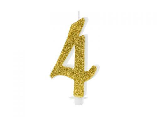 Χρυσό κεράκι αριθμός 4