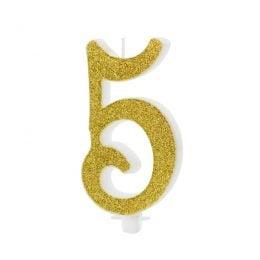 Χρυσό κεράκι αριθμός 5
