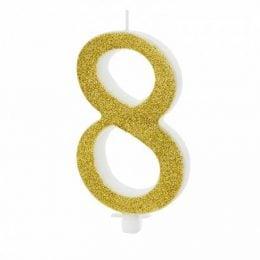 Χρυσό κεράκι αριθμός 8