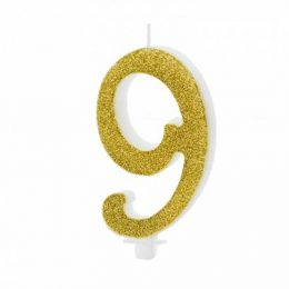 Χρυσό κεράκι αριθμός 9