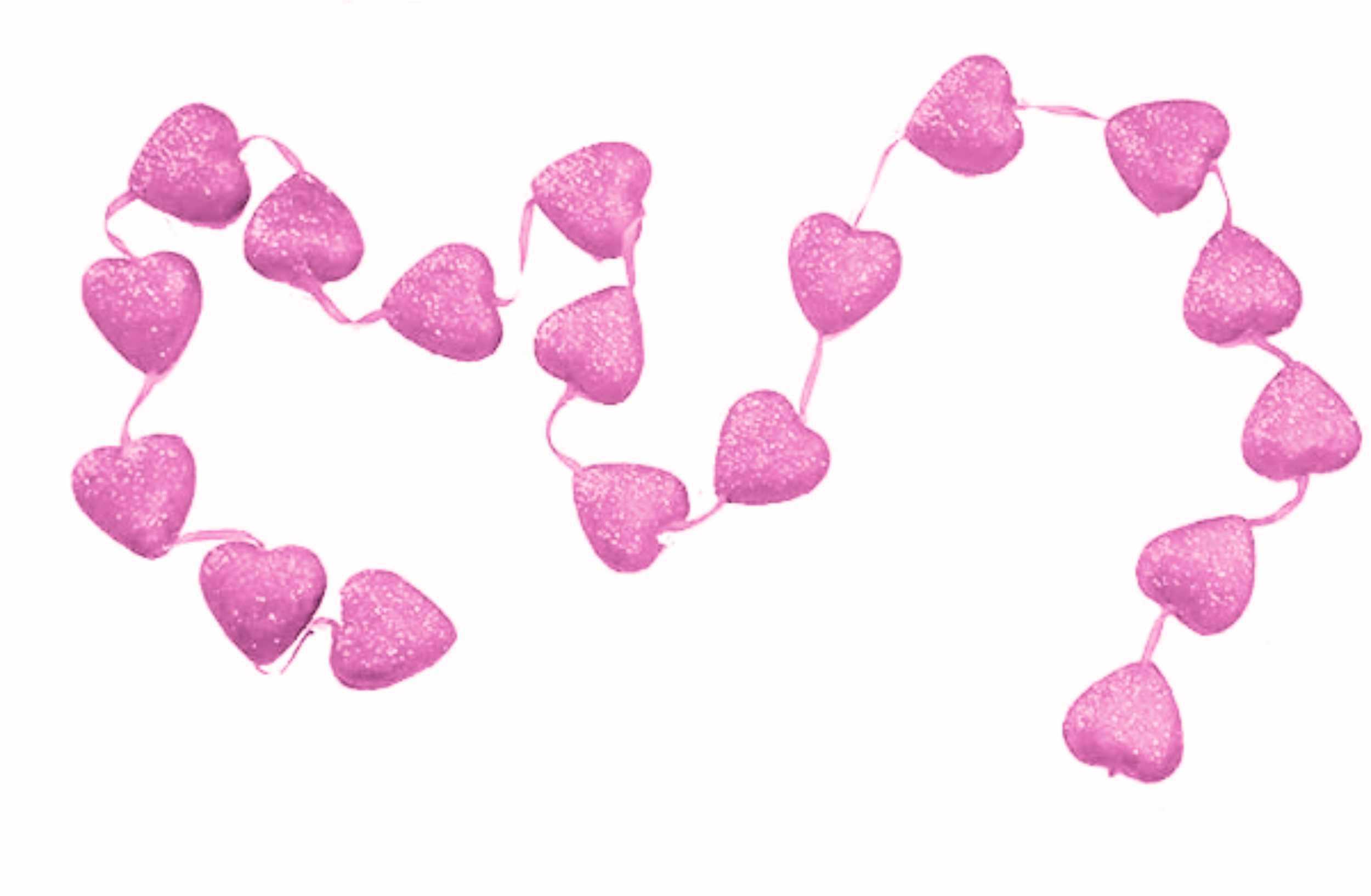 Γιρλάντα Βαλεντίνου με ροζ καρδιές