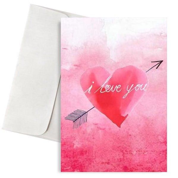 κάρτα αγάπης καρδιά i love you