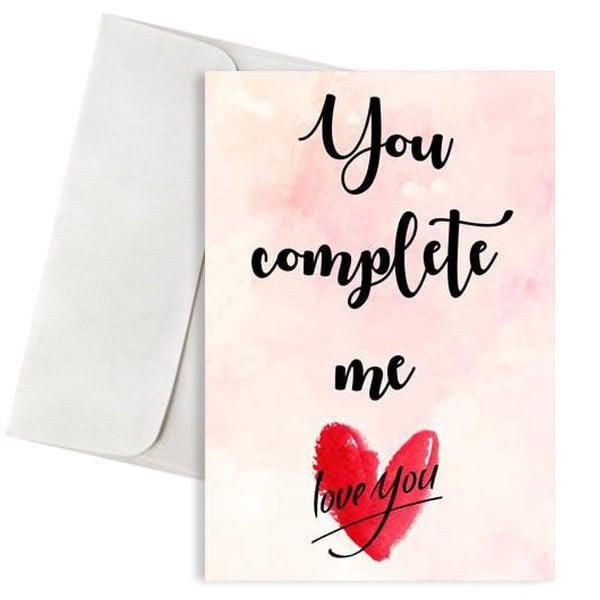 κάρτα αγάπης you complete me