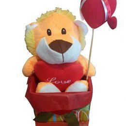 Κουτί Αγάπης με λιονταράκι & στικάκι καρδιά