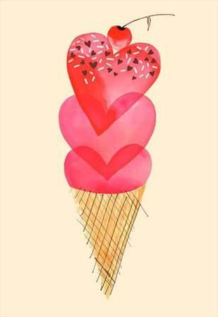 Κάρτα Βαλεντίνου Παγωτό