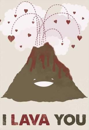 """Κάρτα Αγάπης Ηφαίστειο """"I lava you"""""""
