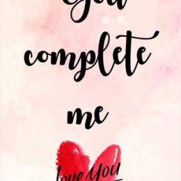 """Κάρτα Αγάπης """"You complete me"""""""