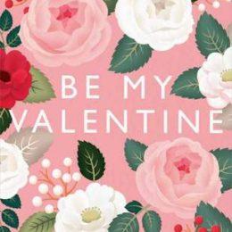 """Κάρτα Αγάπης Φλοράλ """"Be my Valentine"""""""