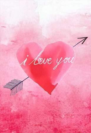 """Κάρτα Αγάπης Watercolor """"I love you"""""""