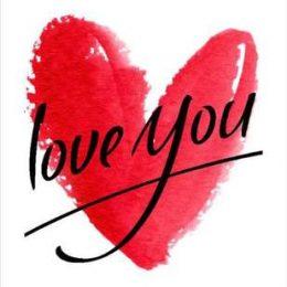 """Κάρτα Αγάπης Κόκκινη Καρδιά """"Love you"""""""