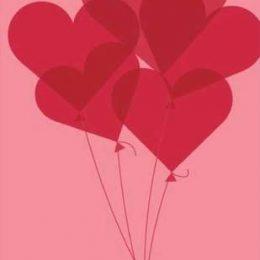 Κάρτα Αγάπης Μπαλόνια Καρδιές