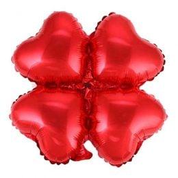 Μπαλόνι κόκκινη καρδιά 4πλο για γιρλάντα 40 εκ