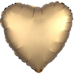 Μπαλόνι chrome χρυσή Καρδιά Καρδιά 18″