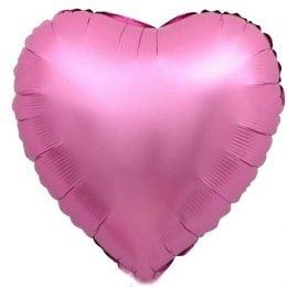 """Μπαλόνι chrome ροζ Καρδιά 18"""""""