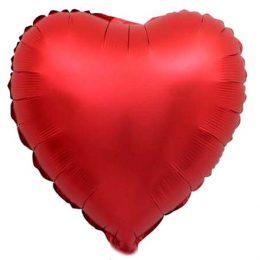"""Μπαλόνι chrome κόκκινη Καρδιά 18"""""""