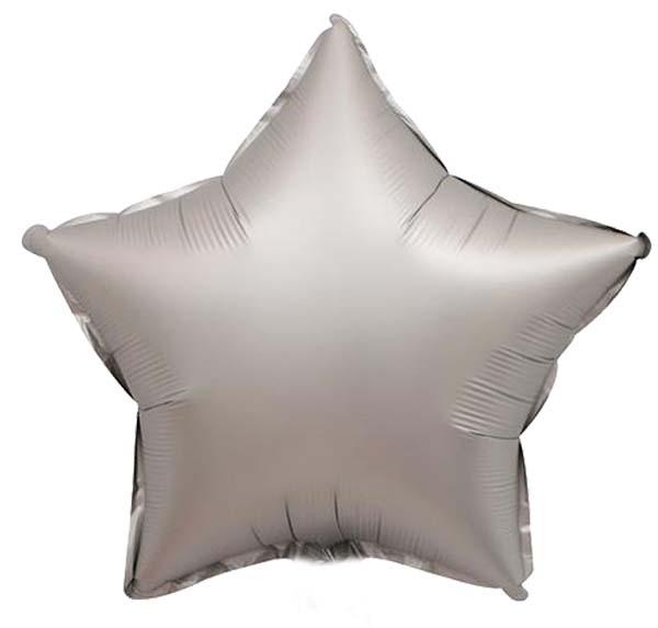 Μπαλόνι chrome ασημί αστέρι 18″