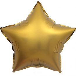 """Μπαλόνι chrome χρυσό αστέρι 18"""""""