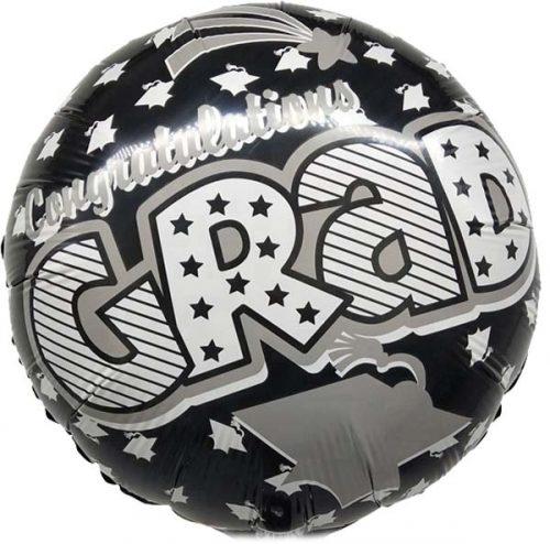 """Μπαλόνι """"Congratulations Grad"""" μαύρο 45 εκ."""