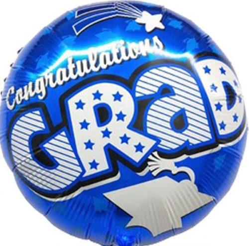 """Μπαλόνι """"Congratulations Grad"""" μπλε 45 εκ."""