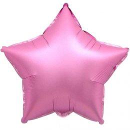 """Μπαλόνι chrome ροζ αστέρι 18"""""""