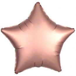 """Μπαλόνι chrome rosegold αστέρι 18"""""""