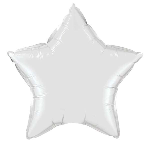 """Μπαλόνι λευκό αστέρι 18"""""""
