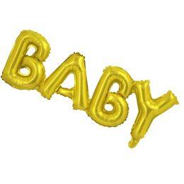 """Μπαλόνι """"Baby"""" χρυσό 84 εκ."""