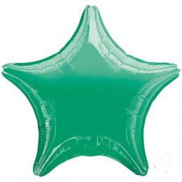 """Μπαλόνι περλέ πράσινο αστέρι 18"""""""