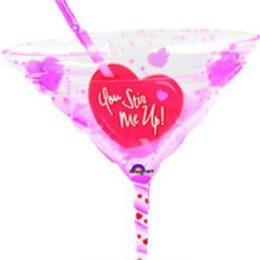 Μπαλόνι ποτήρι Martini Valentine 105 εκ.