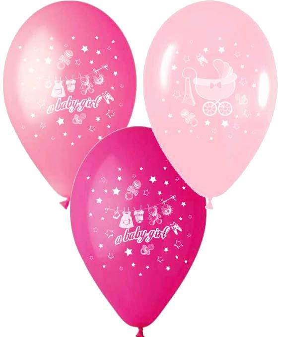 """12"""" Μπαλόνι Α baby gilr καρότσι"""