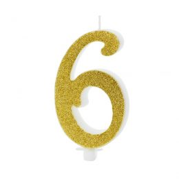 Χρυσό κεράκι αριθμός 6