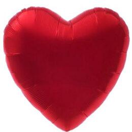 """Μπαλόνι Σατέν Κόκκινη Καρδιά 18"""""""
