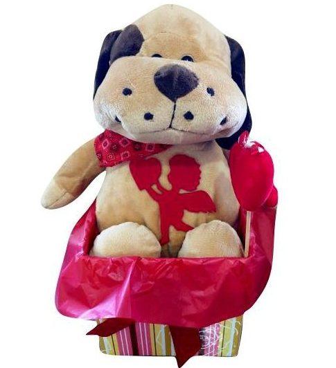Κουτί Βαλεντίνου με Σκυλάκι & στικάκι καρδιά