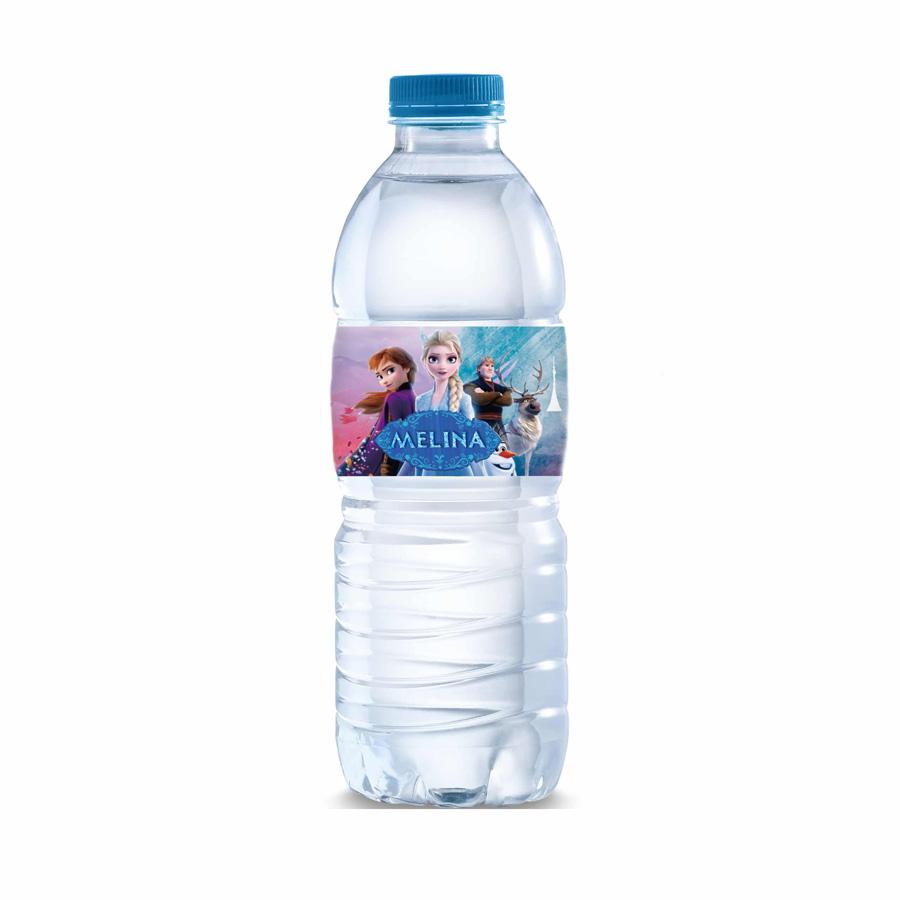 Χάρτινες Ετικέτες για μπουκάλια νερού Frozen