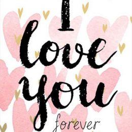 """Κάρτα Αγάπης """"I love you forever"""""""