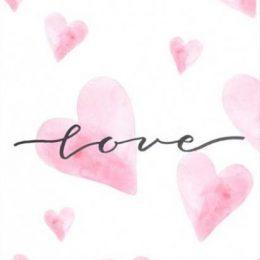 """Κάρτα Αγάπης ροζ καλλιγραφικά """"Love'"""