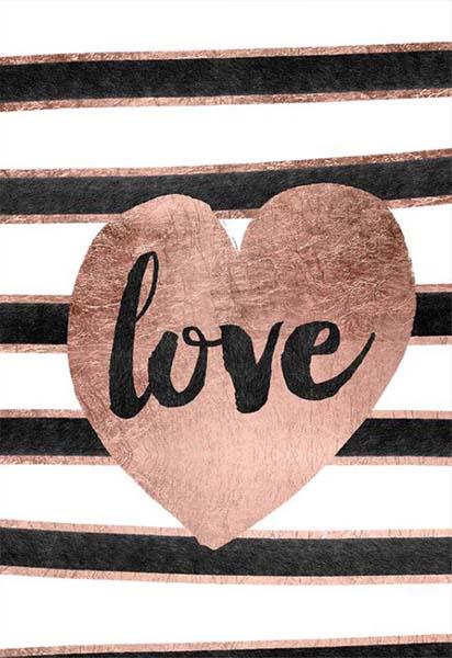 """Κάρτα Αγάπης """"Love"""" ριγέ"""