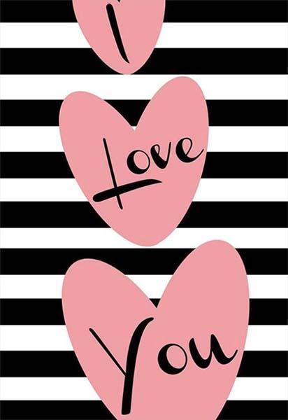 """Κάρτα Αγάπης """"I Love you"""" ριγέ"""
