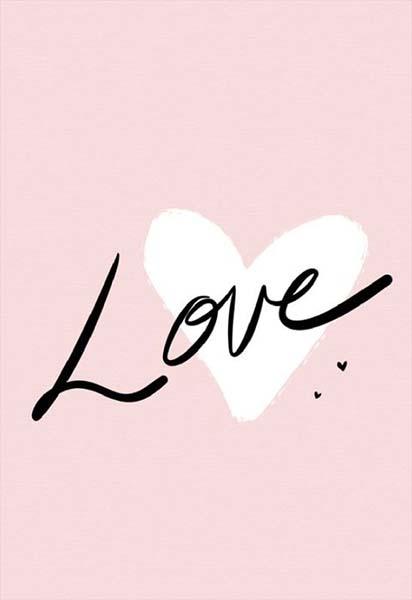 """Κάρτα Αγάπης """"Love"""" λευκή καρδιά"""