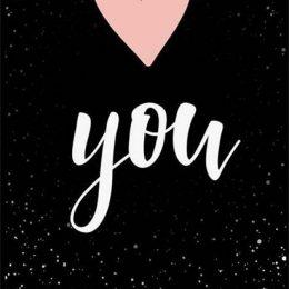 Κάρτα Αγάπης Καρδιά ροζ