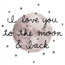 """Κάρτα Αγάπης """"To the moon and back"""""""