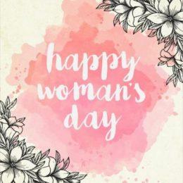 """Κάρτα """"Happy Woman's Day"""" Watercolor"""