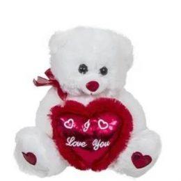 Λούτρινο αρκουδάκι αγάπης με ιριδίζουσα καρδιά