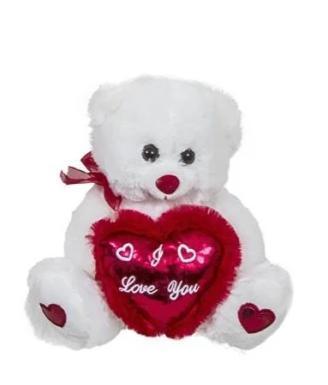 Λούτρινο αρκουδάκι αγάπης με ιριδίζουσα καρδιά - Δώρα Βαλεντίνου