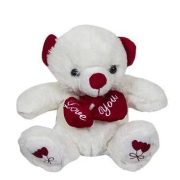 Λούτρινο αρκουδάκι αγάπης που κρατά 2 καρδιές - Δώρα Βαλεντίνου