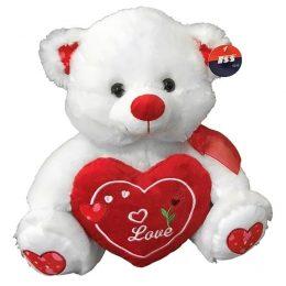 Λούτρινο αρκουδάκι που κρατά καρδιά -Δώρα Βαλεντίνου