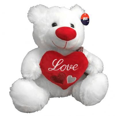 Λούτρινο αρκουδάκι που κρατά καρδιά (σχεδιο 2) -Δώρα Βαλεντίνου