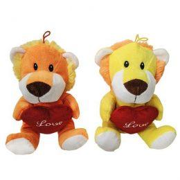 Λούτρινο λιονταράκι αγάπης με καρδούλα