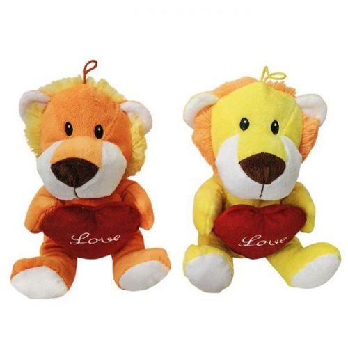 Λούτρινο λιονταράκι αγάπης με καρδούλα - Δώρα Βαλεντίνου